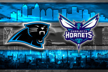 Carolina/Charlotte Sports Teams Poster, Panthers, Hornets, (Hurricanes by Request)
