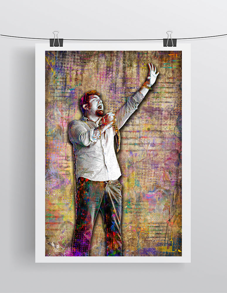 Chino Moreno of Deftones Poster, Deftones Tribute Fine Art
