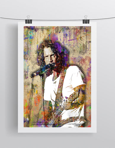 Chris Cornell Pop Poster, Chris Cornell Tribute Fine Art Poster