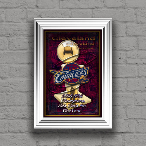 Cleveland CAVALIERS 2016 Championship Poster, Cleveland Cavaliers NBA Finals Print, Cavs Gift