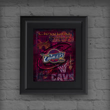 Cleveland CAVALIERS Poster, Cleveland Cavaliers Print, Cavs Gift