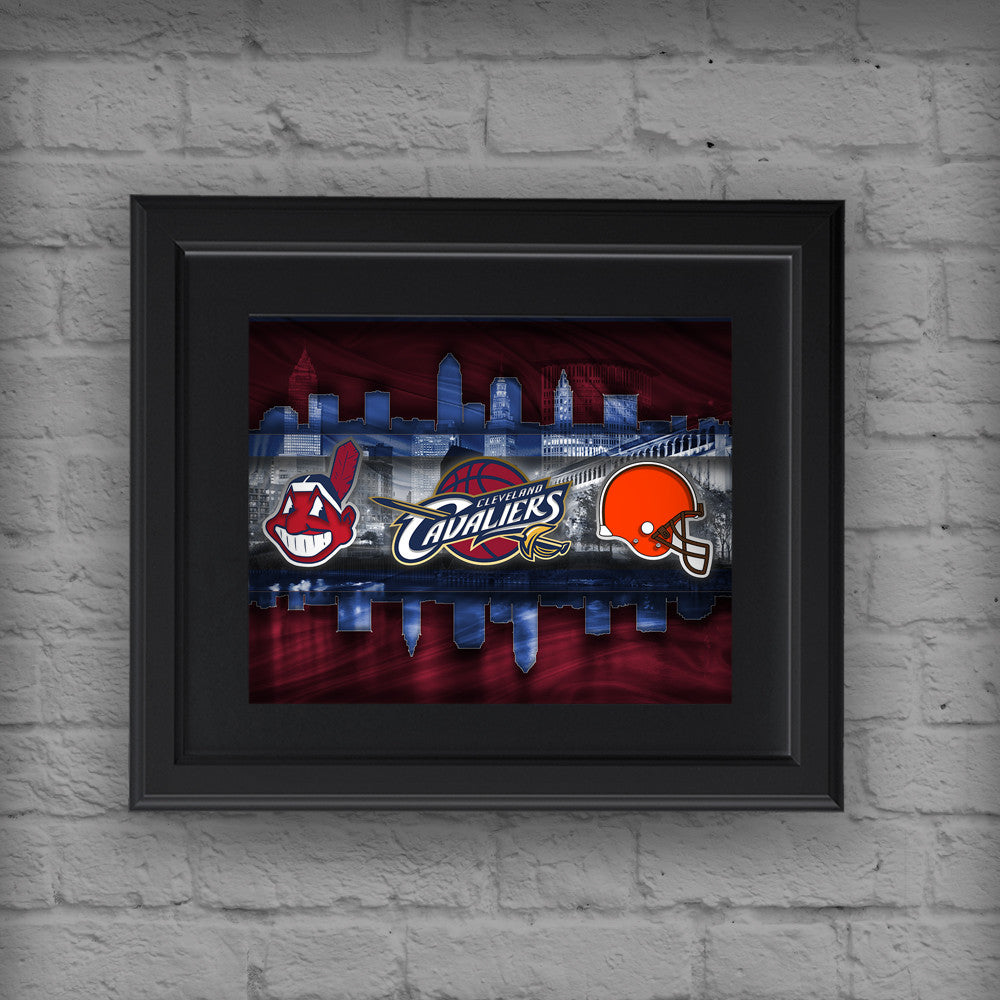 Cleveland Sports Teams Poster Cleveland Cavaliers