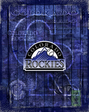 Colorado Rockies Poster, Colorado Rockies Artwork Gift, Rockies Layered Man Cave Art