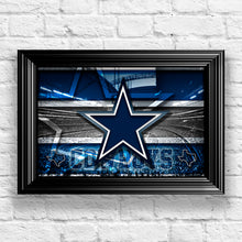 Dallas Cowboys Football Stadium Poster, Dallas Cowboys Gift, Dallas Cowboys Map Art