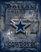 Dallas Cowboys Football Poster, Dallas Cowboys Gift, Dallas Cowboys Map Art