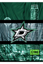 Dallas Stars Hockey In front of Dallas Skyline Poster, Dallas Stars Man Cave Gift