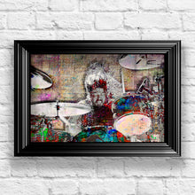 Dave Grohl Foo Fighters Drums Poster, Dave Grohl Gift, Dave Grohl Tribute Art