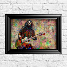 Dave Grohl of Foo Fighters Poster, Dave Grohl Gift, Foo Fighters Tribute Fine Art