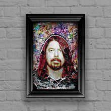 Dave Grohl Foo Fighters Portrait Poster, Dave Grohl Tribute Gift, Dave Grohl Art