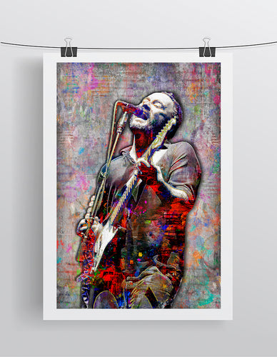 Dave Matthews Poster, Dave Matthews Band Gift 2, Dave Matthews Colorful Layered Tribute Fine Art