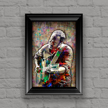 Dave Matthews Poster, Dave Matthews Band Gift, Dave Matthews Colorful Layered Tribute Fine Art