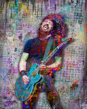 Dave Grohl Foo Fighters Gray Poster, Dave Grohl Tribute Gift, Dave Grohl Art