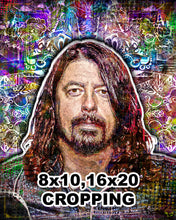 Dave Grohl Foo Fighters Portrait 2 Poster, Dave Grohl Tribute Gift, Dave Grohl Art