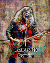 Dave Mustaine Poster, Dave Mustaine of Megadeth Portrait Gift, Megadeth Tribute Fine Art