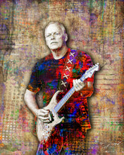 Pink Floyd Poster, David Gilmour of Pink Floyd Gift, David Gilmour Tribute Fine Art