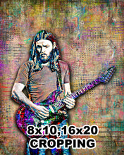 Pink Floyd Poster 2, David Gilmour of Pink Floyd Gift, David Gilmour Tribute Fine Art
