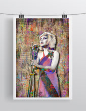 Debbie Harry of Blondie Poster, Debra Harry Tribute Fine Art