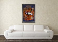Denver Broncos Football Poster, Denver Broncos Layered Sports Print, Broncos Gift, Denver Colorado