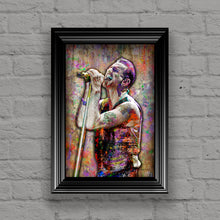 Depeche Mode Poster, Dave Gahan Gift, Depeche Mode Colorful Layered Tribute Fine Art