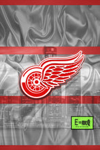 Detroit Red Wings Poster, Detroit Red Wings White and Red Hockey Print, Red Wings Man Cave Art, Red Wings
