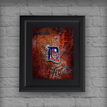 Detroit Tigers Poster, Detroit Tigers Artwork Gift, Tigers Layered Man Cave Art