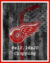 Detroit Red Wings Hockey Flag Poster, Detroit Red Wings Hockey Flag, Red Wings Hockey Flag  Print, Red Wings Man Cave Art, Red Wings
