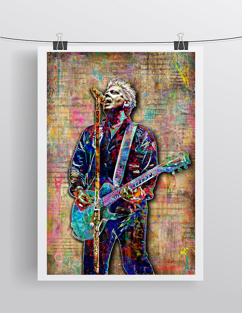 Dexter Holland of Offspring Poster, The Offspring Tribute Fine Art