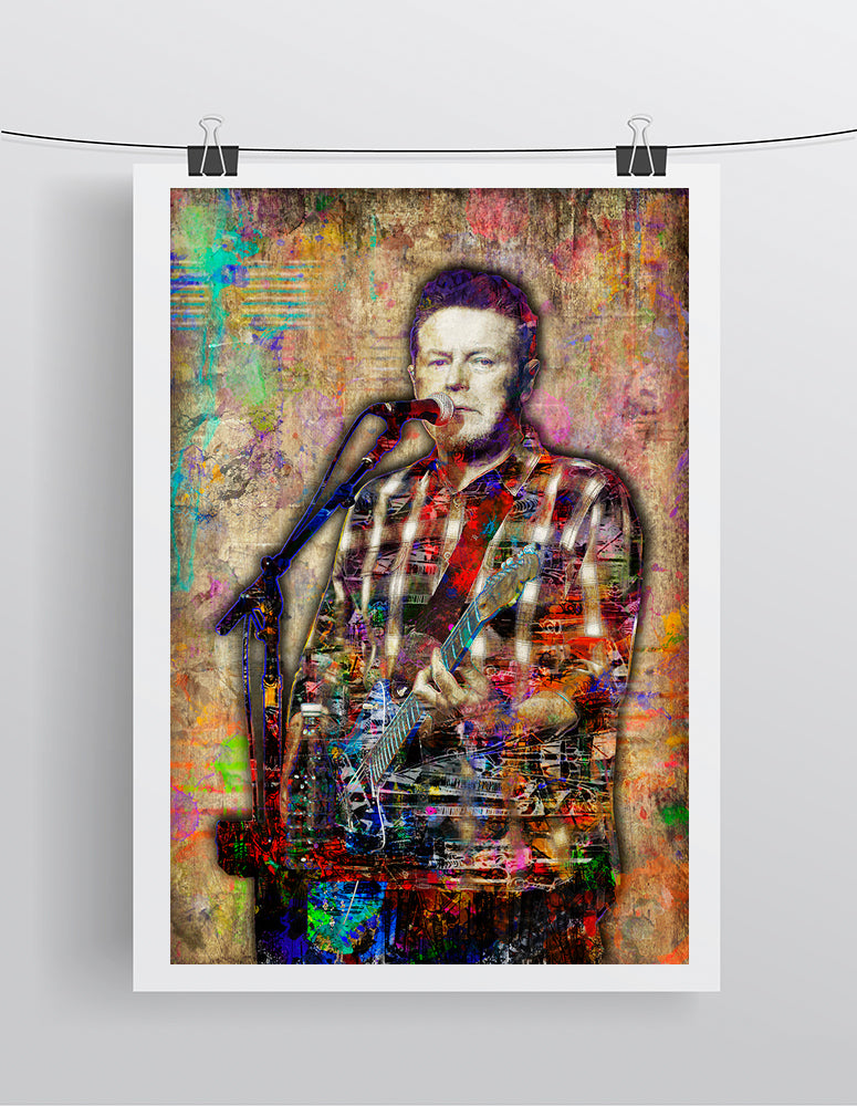 Don Henley Poster, Don Henley of the Eagles Gift, Don Henley Colorful Layered Tribute Fine Art