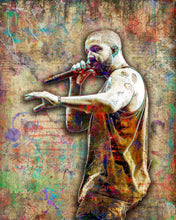 Drake Poster, Drake Gift, Drake Colorful Layered Tribute Fine Art