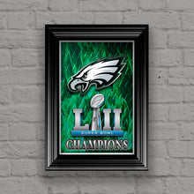 Philadelphia Eagles Super Bowl Championship 2018 Poster, Philadelphia Eagles Artwork