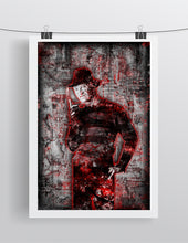 "Freddy Krueger From ""Nightmare on Elm Street"" Poster, Freddy Horror Fine Art"