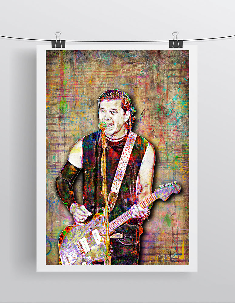 Gavin Rossdale of Bush Poster, Bush Tribute Fine Art