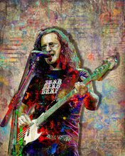 Geddy Lee Poster, Rush Portrait Gift, Geddy Lee Colorful Layered Tribute Fine Art