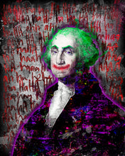 George Washington Joker Poster, Joker George Washington Tribute Fine Art