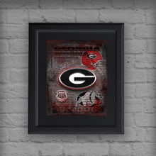Georgia Bulldogs Poster, George Bulldogs Gift, University of Georgia Man Cave, Georgia Bulldogs Print