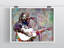Glenn Frey of Eagles Poster, Glenn Frey Gift, Eagles Young Tribute Fine Art