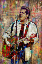 Glenn Frey of Eagles Poster, Glenn Frey Gift, Eagles Colorful Tribute Fine Art