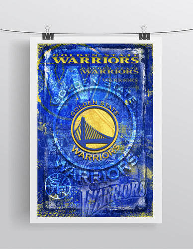 Golden State Warriors Poster, Warriors Basketball Gift, Steph Curry  Art