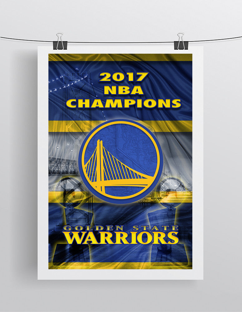 Golden State Warriors 2017 Championship Poster, GSW, Warriors Print, Warriors Basketball Gift, Steph Curry Warriors Art