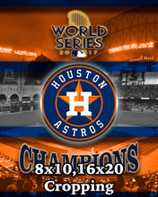 Houston Astros Poster 2017 World Series Championship Poster, Astros Poster