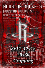 Houston Rockets Poster, Houston Rockets Print, Rockets Gift, Houston Man Cave Art