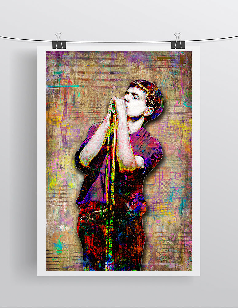 Ian Curtis of Joy Division, Joy Division Portrait Gift, Ian CurtisTribute Fine Art
