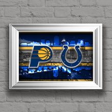 Indianapolis Sports Teams Poster, Indiana Sports Print,Indianapolis Colts, Indiana Pacers