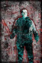 "Jason Voorhees ""Friday The 13th"" Poster, Jason Voorhees Horror Fine Art"