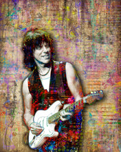 Jeff Beck Poster, Jeff Beck Guitarist Gift, Jeff Beck Tribute Fine Art