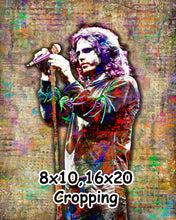 Jim Morrison Poster, Jim Morrison of the Doors Gift, Jim Morrison Colorful Layered Tribute Fine Art