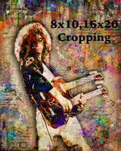 Jimmy Page Poster, Jimmy Page of Led Zeppelin Gift, Jimmy Page Tribute Fine Art