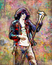 Joey Ramone Poster, Joey Ramone of The Ramones Gift, Ramones Tribute Fine Art