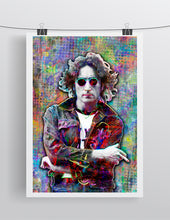 John Lennon Poster, John Lennon of The Beatles Gift, John Lennon Colorful Layered Tribute Fine Art