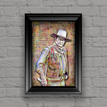 John Wayne Poster, John Wayne The Duke Tribute Fine Art